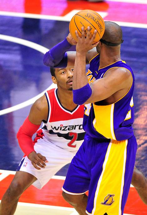 Washington defeated Los Angeles 106-101 at the Verizon Center in Washington, D.C. on Wednesday, March 7, 2012. Alan P. Santos/DC Sports Box