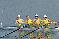 Brest, Belarus.  AUS LM4- , at the start, 2010. FISA U23 Championships. Friday,  23/07/2010.  [Mandatory Credit Peter Spurrier/ Intersport Images]