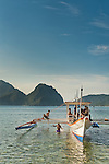 Pontoon boat in El Nido, Palawan, Philippines