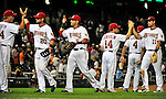 21 June 2010: The Washington Nationals celebrate a win against the Kansas City Royals at Nationals Park in Washington, DC. The Nationals edged out the Royals 2-1 in the first game of their 3-game interleague series, snapping a 6-game losing streak. Mandatory Credit: Ed Wolfstein Photo