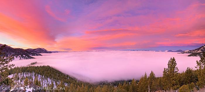 Sunrise over Fog, Lake Tahoe