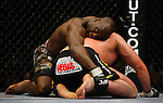 March 1, 2008; Columbus, OH; UFC 82: Pride of a Champion - Heath Herring (black trunks)  defeats Cheick Kongo (camo trunks) via split decision of their bout at the Nationwide Arena in Columbus, OH.