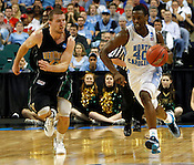 Harrison Barnes outruns Vermont defense. UNC defeated Vermont 77-58 during the 2nd round of the 2012 NCAA Basketball Championship at the Greensboro Coliseum in Greensboro, NC. Photo by Al Drago.