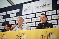 Sylvain Chavanel (FRA/IAM) at the pr&eacute;-race press conference in Leeds<br /> <br /> Tour de France 2014