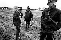 The shooting is over and the hunters prepare to go home and leave the hunting place behind them at the countryside of the Danish island Funen on sunday  17. November 2002.  Photo: Erik Luntang