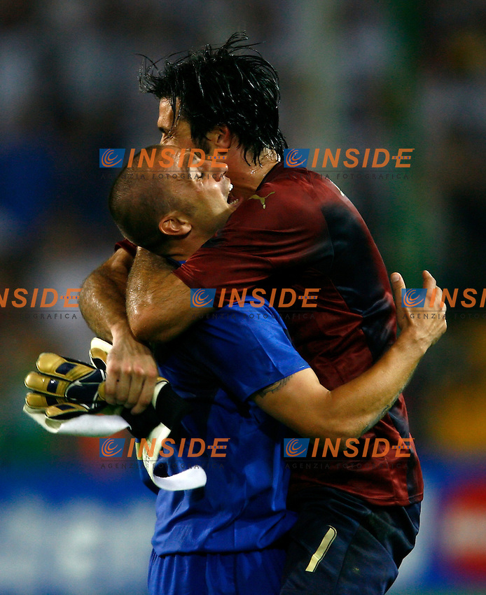 Dortmund 4/7/2006 World Cup 2006 Semifinale Germania Italia 0-2.Photo Andrea Staccioli Insidefoto.Gianluigi Buffon and FAbio CAnnavaro celebrate at the end of match.Gianluigi Buffon e FAbio Cannavaro festeggiano alla fine dell'incontro