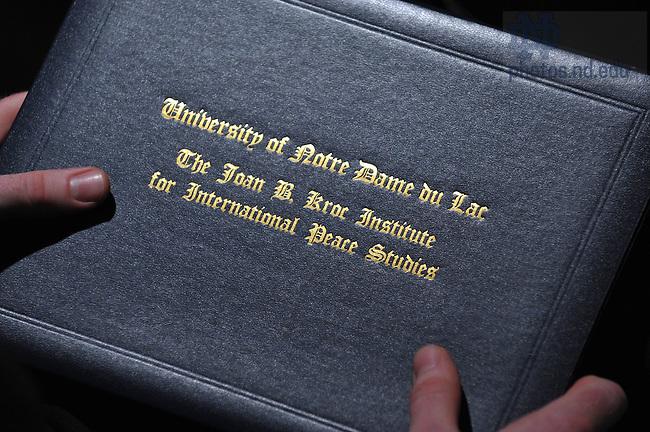 Kroc Institute Master's Degree Commencement ceremony, 2009..Photo by Matt Cashore/University of Notre Dame