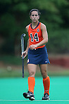 12 September 2014: Syracuse's Laura Hurff. The University of North Carolina Tar Heels hosted the Syracuse University Orange at Francis E. Henry Stadium in Chapel Hill, North Carolina in a 2014 NCAA Division I Field Hockey match. UNC won the game 3-0.