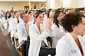 From right, Christina Litsakos, Ryan Nichols. Class of 2017 White Coat Ceremony.