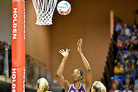 Romelda Aiken in action during the ANZ Championship - Mojo Pulse v Queensland Firebirds at Te Rauparaha Arena, Porirua, New Zealand on Sunday 8 March 2015. <br /> Photo by Masanori Udagawa. <br /> www.photowellington.photoshelter.com.