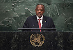 His Excellency Ismail Omar Guelleh, President of the Republic of Djibouti   <br /> General Assembly Seventieth session 9th plenary meeting: High-level plenary meeting of the (6th meeting)