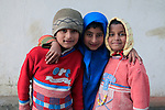 Asia, India, Darjeeling. Three darling children of Darjeeling.