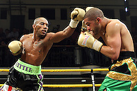 Junior Witter defeats Nathan Graham in Quarter-Final 2 of Prizefighter The Welterweights II at York Hall, promoted by Matchroom Sports - 07/06/11 - MANDATORY CREDIT: Gavin Ellis/TGSPHOTO - Self billing applies where appropriate - Tel: 0845 094 6026
