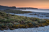 Pastel colours of twilight over Three Mile beach, Westland National Park, West Coast, World Heritage Area, South Westland, New Zealand