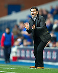 Paul Hartley shouting at his players