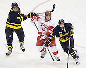 Kyle Bigos (Merrimack - 3), Corey Trivino (BU - 10), Stephane Da Costa (Merrimack - 24) - The visiting Merrimack College Warriors tied the Boston University Terriers 1-1 on Friday, November 12, 2010, at Agganis Arena in Boston, Massachusetts.