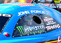 Jun 10, 2016; Englishtown, NJ, USA; NHRA funny car driver John Force during qualifying for the Summernationals at Old Bridge Township Raceway Park. Mandatory Credit: Mark J. Rebilas-USA TODAY Sports