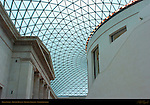 Glass Roof and Reading Room, Great Court, British Museum, London, England, UK