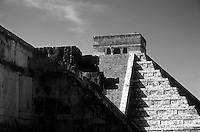 Pre-Hispanic Ruins in Black and White