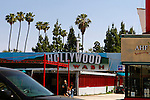 USA, California, Los Angeles. Hollywood Car Wash on Hollywood Boulevard.