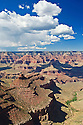 Grand Canyon from lookout point on South Rim near Hopi House; Grand Canyon National Park, Arizona.