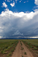 approaching storm on a ranch in New Mexico