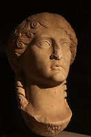 Portrait bust of Agrippina the Elder, mother-in-law of Emperor Claudius and grandmother of Nero, 40 AD, originally from the crypto portico of the basilica, in the Museu Nacional de Machado de Castro, Coimbra, Portugal. The museum was opened in 1913 and renovated 2004-2012. The city of Coimbra dates back to Roman times and was the capital of Portugal from 1131 to 1255. Its historic buildings are listed as a UNESCO World Heritage Site. Picture by Manuel Cohen