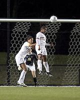 "Boston College forward Natalie Crutchfield (9) heads the ball. Boston College defeated West Virginia, 4-0, in NCAA tournament ""Sweet 16"" match at Newton Soccer Field, Newton, MA."