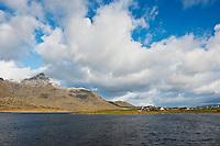 view over Farstadvatnet and mountains, Vestvagoy, Lofoten Islands, Norway