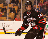 Sam Kurker (NU - 10) - The Harvard University Crimson defeated the Northeastern University Huskies 4-3 in the opening game of the 2017 Beanpot on Monday, February 6, 2017, at TD Garden in Boston, Massachusetts.