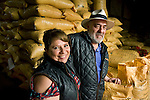 Proprietor and wife at chocolate factory in Ecuador