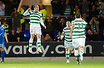 St Johnstone v Celtic..27.10.10  .Anthony Stokes celebrates his goal.Picture by Graeme Hart..Copyright Perthshire Picture Agency.Tel: 01738 623350  Mobile: 07990 594431
