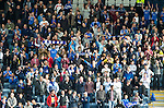 Dundee v St Johnstone....29.09.12      SPL.A good turnout of saints fans in the Bob Shankly stand at Dens Park..Picture by Graeme Hart..Copyright Perthshire Picture Agency.Tel: 01738 623350  Mobile: 07990 594431