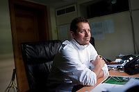 Dan Bloxham, Head Coach, in his office next to Centre Court at Wimbledon, The All England Lawn Tennis Club (AELTC), London...