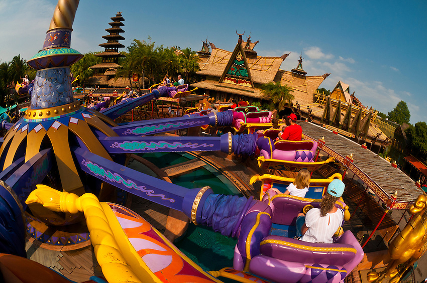The Magic Carpets of Aladdin ride, Adventureland, Magic Kingdom, Walt Disney World, Orlando, Florida USA