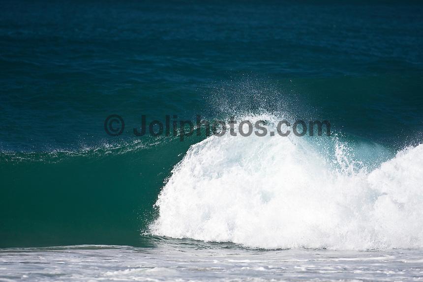 A Foam ball winds its way down the Superbank, Coolangatta , Queensland, Australia.  Photo: joliphotos.com