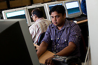 ALSTOM's Bangalore employees working in the Delhi Platform Room in Bangalore, Karnataka, India on 10th March 2011. .Photo by Suzanne Lee/Abaca Press