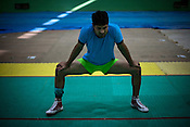 The Indian Kabbadi team trains at a month long camp in Sport Authority of India Sports Complex in Bisankhedi, outskirts of Bhopal, Madhya Pradesh, India. Photo: Sanjit Das