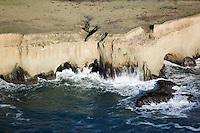 aerial photograph Pacific coast San Mateo County, California