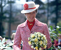 Princess Anne on a May 1985 visit to N Ireland is pictured at the official opening of an extension to Belfast Royal Academy's Preparatory Department at its Ben Madigan campus. 19850501a..Copyright Image from Victor Patterson, 54 Dorchester Park, Belfast, UK, BT9 6RJ..Tel: +44 28 9066 1296.Mob: +44 7802 353836.Voicemail +44 20 8816 7153.Skype: victorpattersonbelfast.Email: victorpatterson@me.com.Email: victorpatterson@ireland.com (back-up)..IMPORTANT: If you wish to use this image or any other of my images please go to www.victorpatterson.com and click on the Terms & Conditions. Then contact me by email or phone with the reference number(s) of the image(s) concerned.