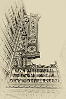 An antique style look at the famous Chicago Theatre sign.