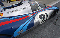 Porsche 917, #21 Martini Racing Porsche  on display at the Rennsport Reunion, Daytona INternational Speedway, Daytona Beach, FL, November 2007.  (Photo by Brian Cleary/www.bcpix.com)