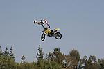 motorcycle jump near Rose Bowl