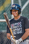20 August 2015: Tri-City ValleyCats outfielder Alexander Melendez awaits his turn in the batting cage prior to a game against the Vermont Lake Monsters at Centennial Field in Burlington, Vermont. The Stedler Division-leading ValleyCats defeated the Lake Monsters 5-2 in NY Penn League action. Mandatory Credit: Ed Wolfstein Photo *** RAW Image File Available ****