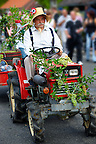 Wine makers  in tradtional Hungarian costume celebrating the wine festival - Badascony, Hungary