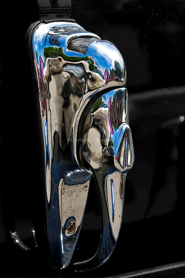 Automotive Detail - Vintage American Cars in Black and White and Selective Color