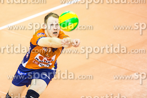 Matija Jereb of ACH Volley during volleyball match between ACH Volley Ljubljana and Asseco Resovia Rzeszow in 2nd Round of CEV Champions League, on November 19, 2014 in Hala Tivoli, Ljubljana, Slovenia. Photo by Matic Klansek Velej / Sportida