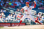28 August 2016: Washington Nationals pitcher Oliver Perez on the mound against the Colorado Rockies at Nationals Park in Washington, DC. The Rockies defeated the Nationals 5-3 to take the rubber match of their 3-game series. Mandatory Credit: Ed Wolfstein Photo *** RAW (NEF) Image File Available ***