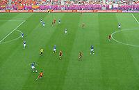 FUSSBALL  EUROPAMEISTERSCHAFT 2012   VORRUNDE Spanien - Italien            10.06.2012 Uebersicht des Spielfeldes