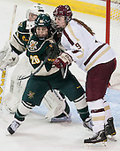 Sarah Campbell (UVM - 26), Taylor Wasylk (BC - 9) - The Boston College Eagles defeated the visiting University of Vermont Catamounts 2-0 on Saturday, January 18, 2014, at Kelley Rink in Conte Forum in Chestnut Hill, Massachusetts.